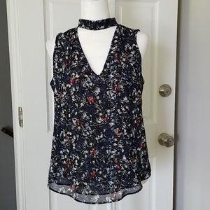 EUC White House Black Market Floral Blouse Size 4
